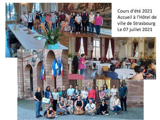 Cours d'été - Des auditeurs de l'UPE à l'Hôtel de ville de Strasbourg