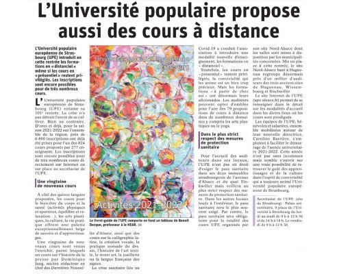 La rentrée de lUniversité populaire européenne
