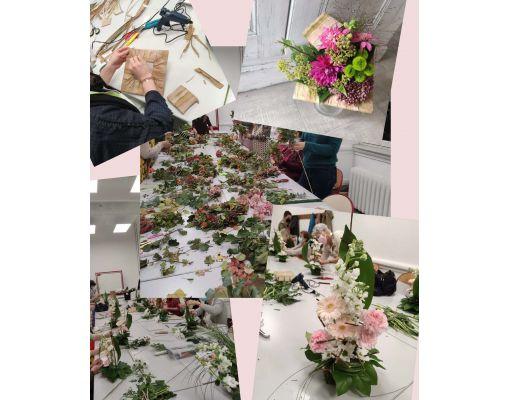 Les réalisations des auditeurs du cours d'Art Floral